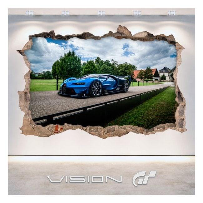 Vinilos Decorativos 3D Bugatti Vision Gran Turismo