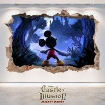 Vinilos Infantiles 3D Castle Of Illusion