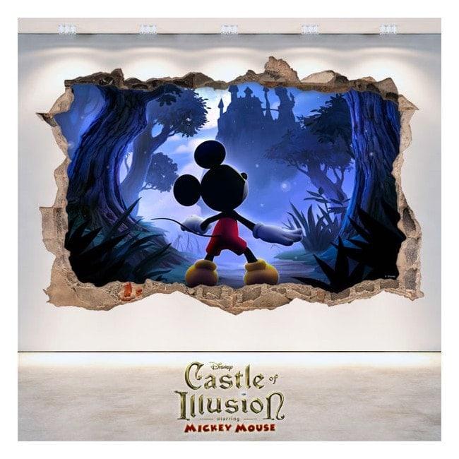 Vinilos Infantiles 3D Castle Of Illusion