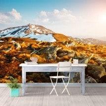 Fotomurales Nieve Montañas
