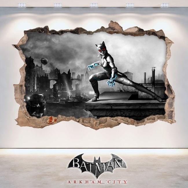 Vinilos Y Pegatinas 3D Batman Arkham City