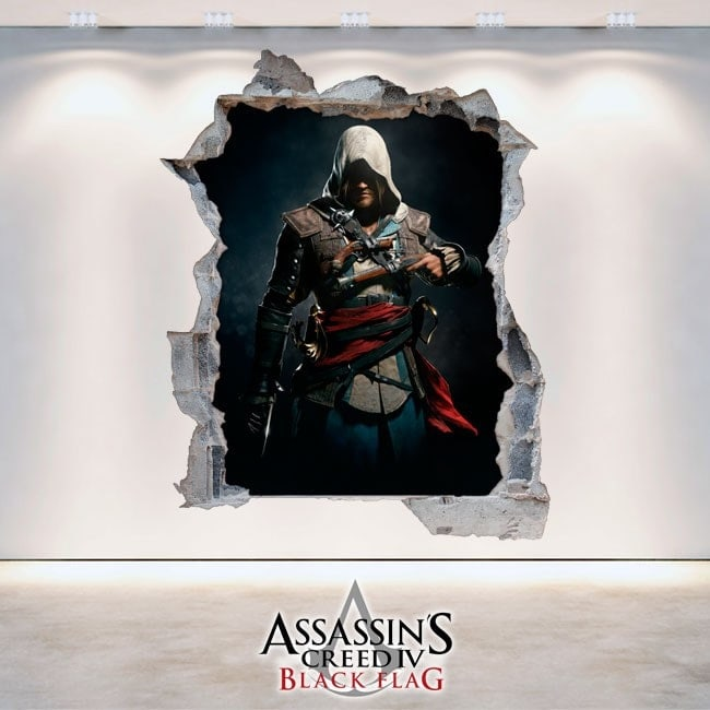 Vinilos Decorativos 3D Assassin's Creed Black Flag