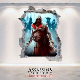 Pegatinas Y Vinilos 3D Assassin's Creed Brotherhood