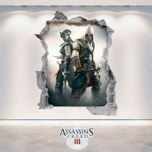 Vinilos Y Pegatinas 3D Assassin's Creed 3