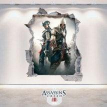 Vinilos Y Pegatinas 3D Assassin's Creed 3