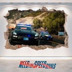 Vinilos Decorativos 3D Need For Speed Rivals