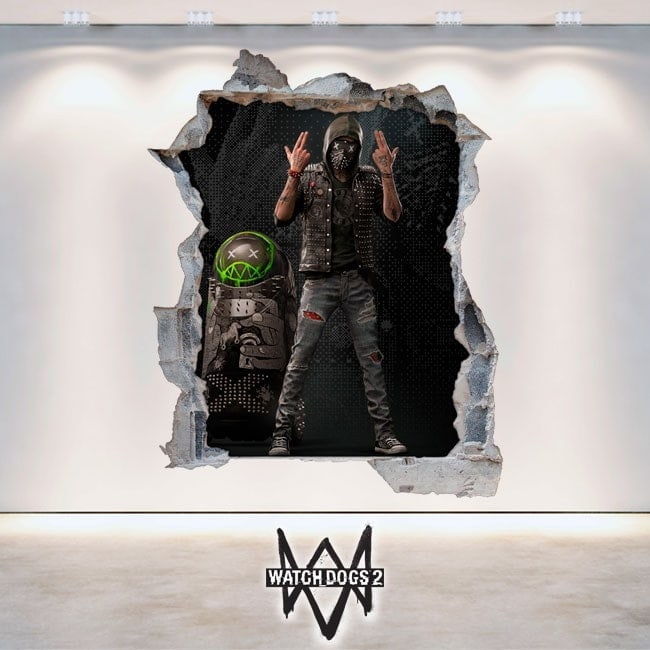 Vinilos Y Pegatinas 3D Wrench Watch Dogs 2