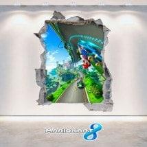 Vinilos Videojuegos 3D Mario Kart 8