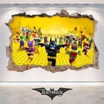 Vinilos Decorativos 3D Batman Lego