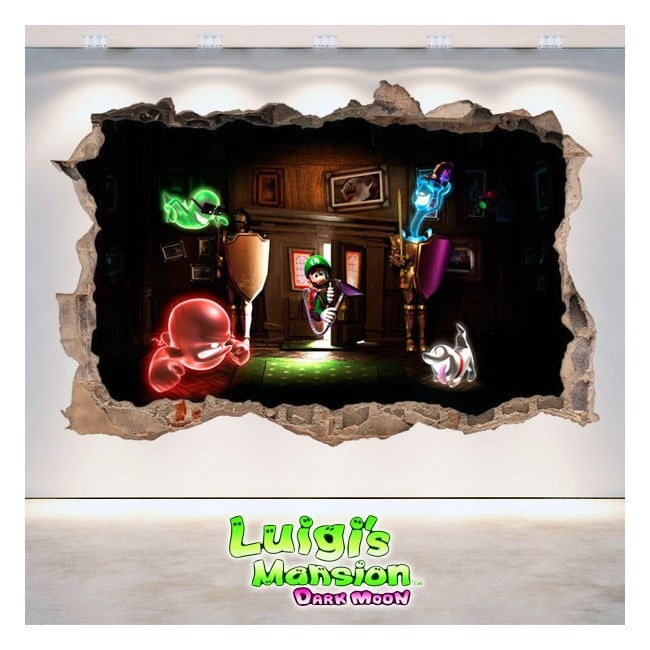Vinilos Y Pegatinas Luigi's Mansion Dark Moon