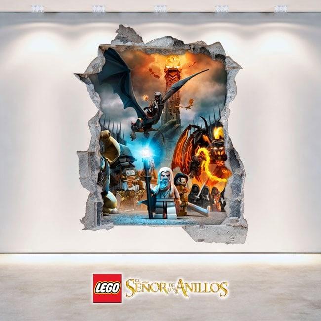 Vinilos Decorativos 3D El Señor De Los Anillos Lego