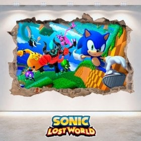 Vinilos Decorativos 3D Sonic Lost World