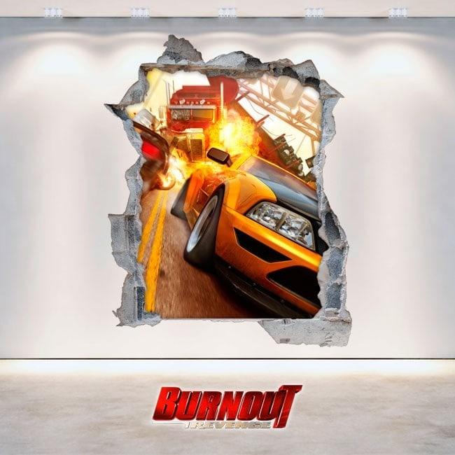 Vinilos Videojuegos Burnout Revenge 3D