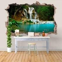 Vinilos Cascadas Naturaleza 3D