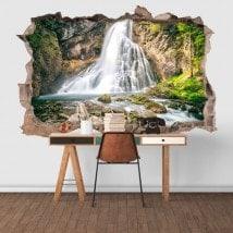 Vinilos Decorativos 3D Cascadas Montaña