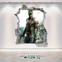 Vinilos Decorativos 3D Tom Clancy's Splinter Cell Blacklist