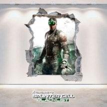 Vinilos Decorativos 3D Tom Clancy's Splinter Cell Blacklist