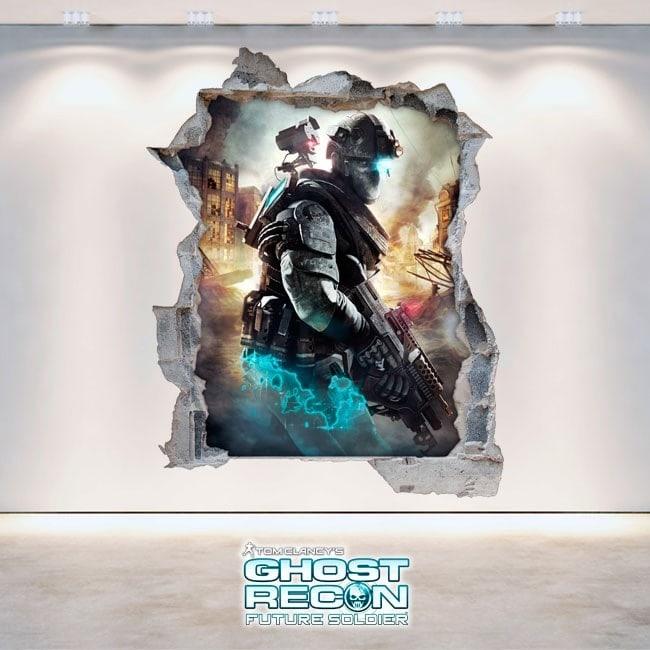 Vinilos Decorativos 3D Tom Clancy's Ghost Recon Future Soldier
