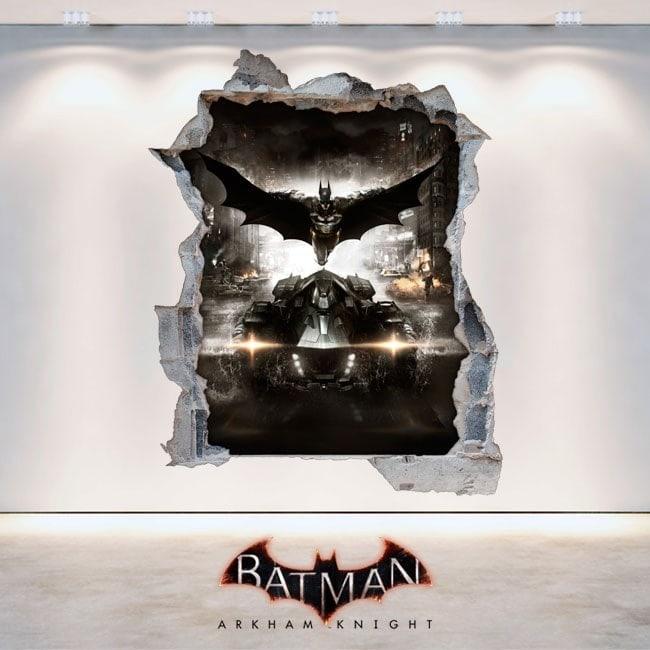 Vinilos Decorativos Batman Arkham Knight 3D