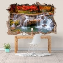 Vinilos Y Pegatinas Cascadas Naturaleza 3D