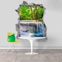 Vinilos Decorativos 3D Cascadas En La Naturaleza