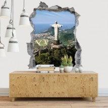 Vinilos Decorativos 3D Cristo Redentor