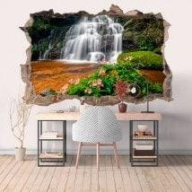 Vinilos Decorativos 3D Cascadas Y Naturaleza