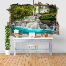 Vinilos Decorativos Cascadas En La Naturaleza 3D