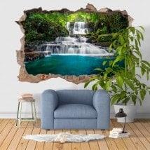 Vinilos Decorativos 3D Cascadas Naturaleza