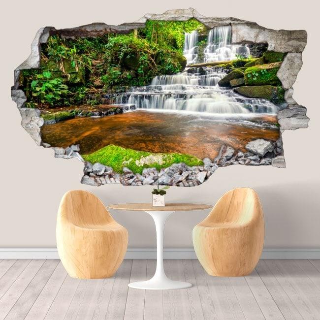 Vinilos decorativos cascadas de tailandia 3d for Vinilos decorativos 3d