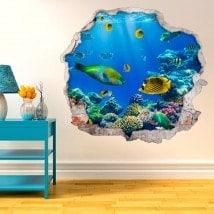 Vinilos Decorativos Peces En El Mar 3D