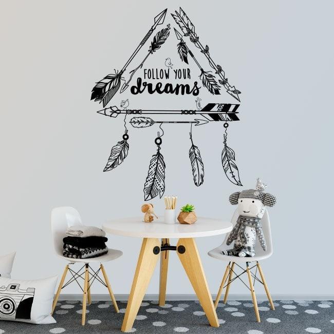 Vinilos Decorativos Frases Follow Your Dreams