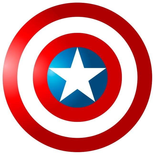 🥇 Vinilos Decorativos Escudo Capitán América