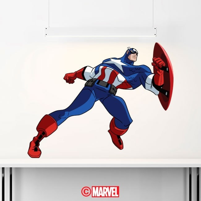 Vinilos Y Pegatinas Capitán América