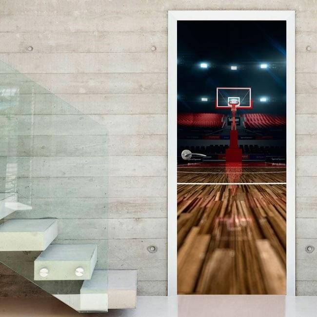 Vinilos decorativos puertas cancha baloncesto - Vinilos decorativos puertas ...