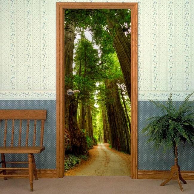 Vinilos decorativos para puertas camino de sequoias for Vinilos decorativos puertas