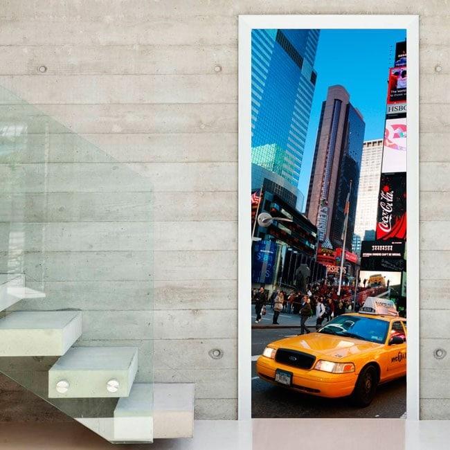 Vinilos Para Puertas Ciudad Nueva York