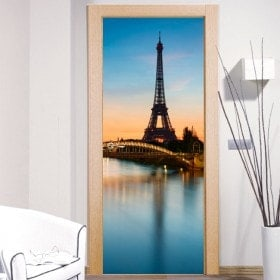 Vinilos Decorativos Para Puertas Paris Torre Eiffel