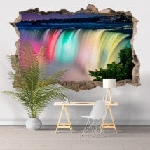 Vinilos 3D Colores Cataratas Del Niágara
