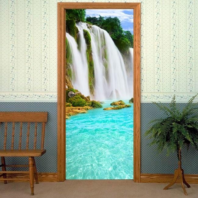 Vinilos decorativos para puertas cascadas for Vinilos decorativos puertas