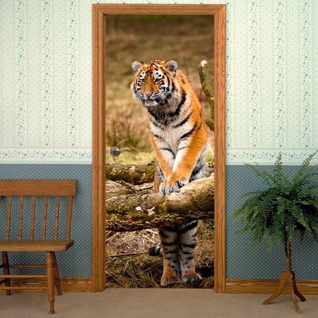 Vinilos Decorativos Puertas Tigre Siberiano