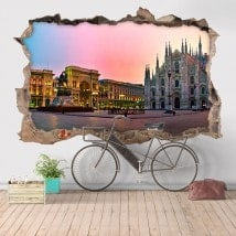 Vinilos 3D Catedral Duomo Milán Italia