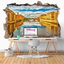 Vinilos 3D Río Arno Florencia Italia