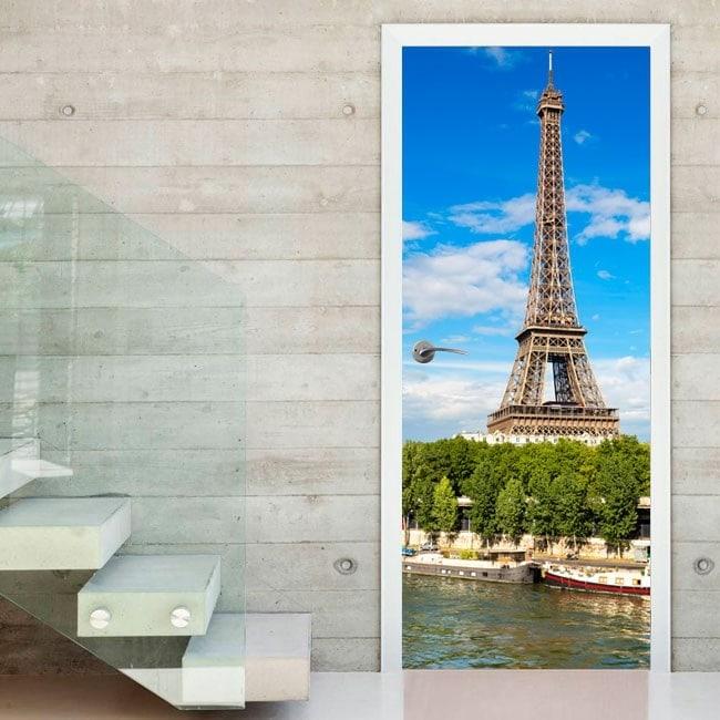 Vinilos Puertas Torre Eiffel Paris