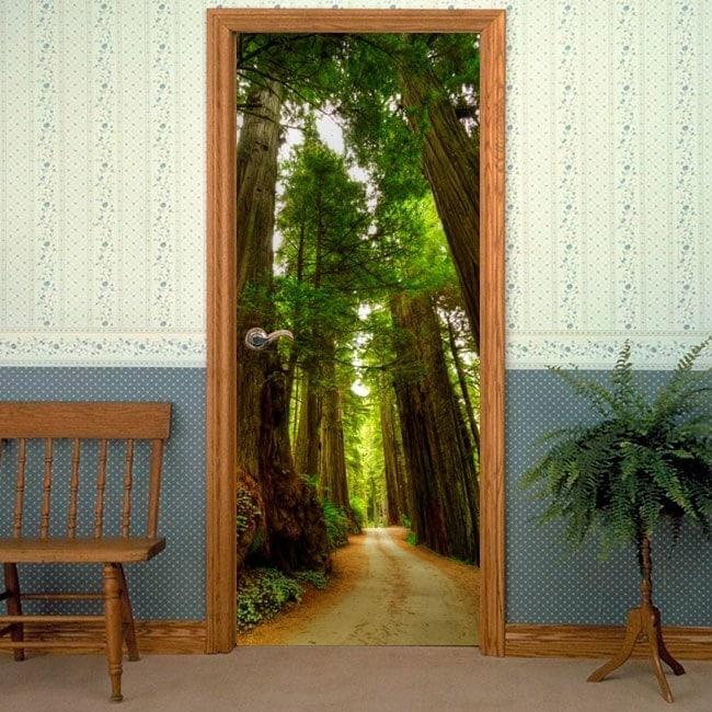 Vinilos Y Pegatinas Puertas Parque Nacional Redwood