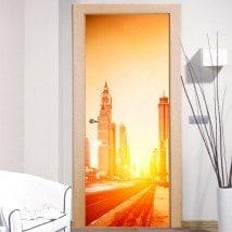 Vinilos Decorativos Para Puertas Ciudad De Dubai