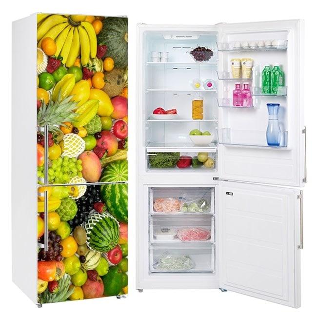 Vinilos para frigoríficos y neveras frutas collage