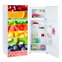 Vinilos para neveras y frigoríficos franjas frutas
