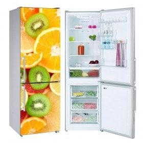 Vinilos para neveras y frigoríficos frutas collage