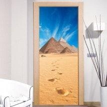 Vinilos decorativos puertas pirámides de Guiza